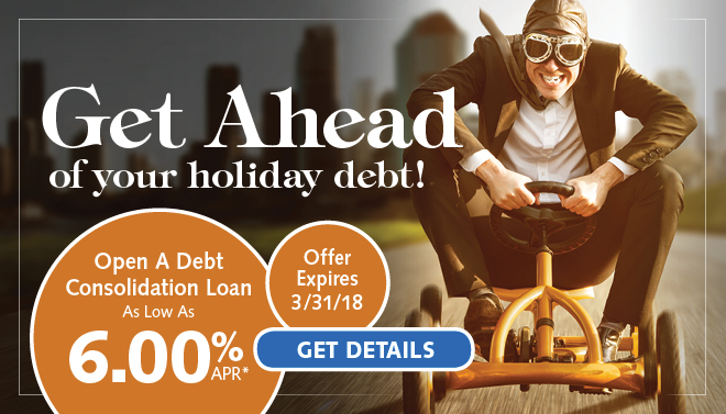 Get ahead of your holiday debt with a debt consilidation loan!