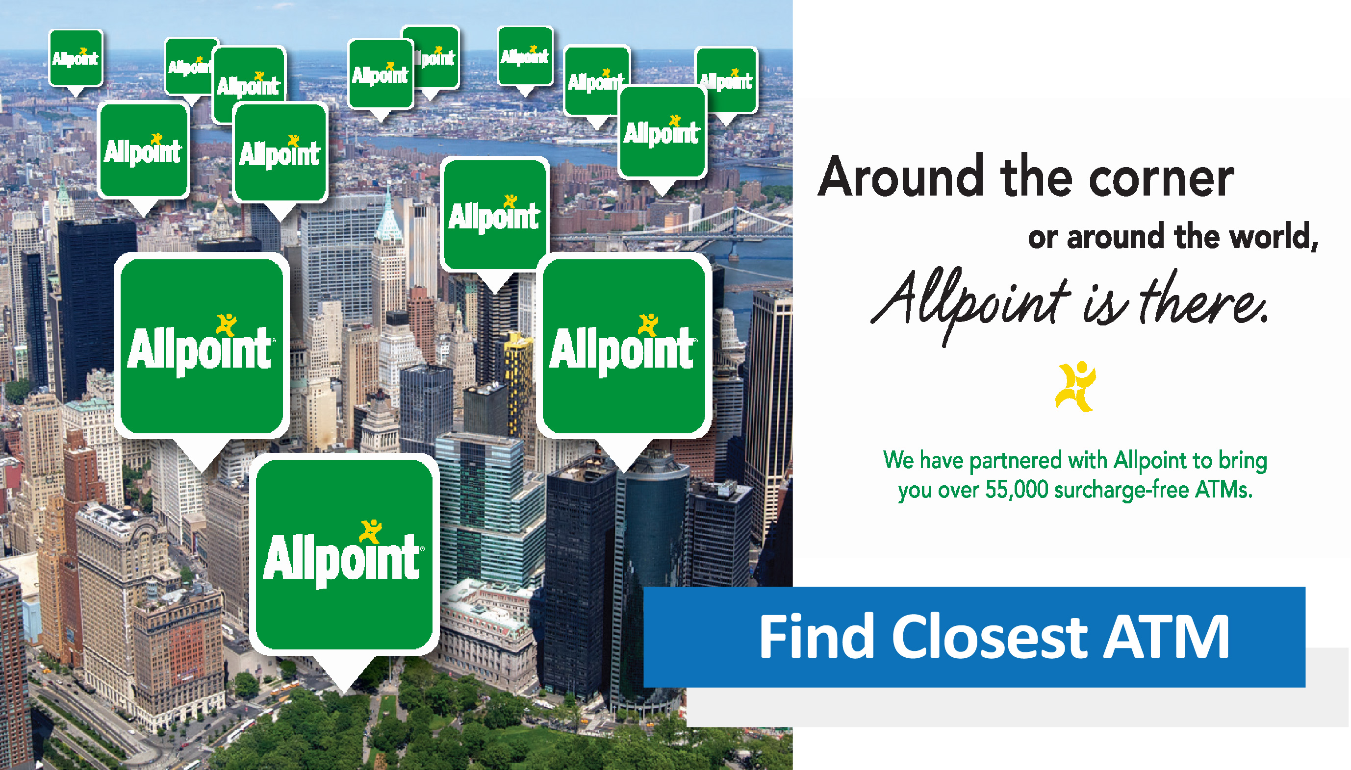 Find a surcharge-free Allpoint ATM Today!
