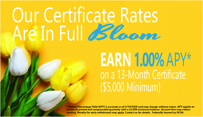 Our Certificate Rates Are In Full Bloom!